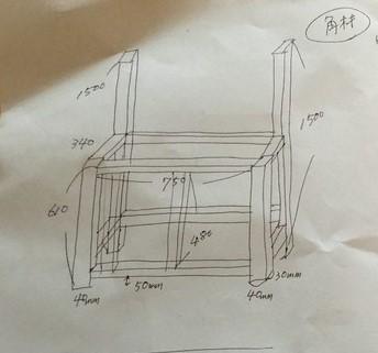 室外機カバー図面画像