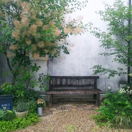 アンティークレンガの舗装例画像