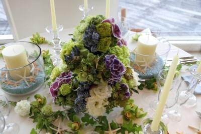 フルールサンクフラワーショップイビの結婚式のアレンジの画像